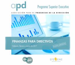 Finanzas para directivos – Programa Superior Executive APD-EFE&ENE