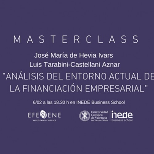 (Español) Le invitamos a la masterclass sobre Corporate Finance