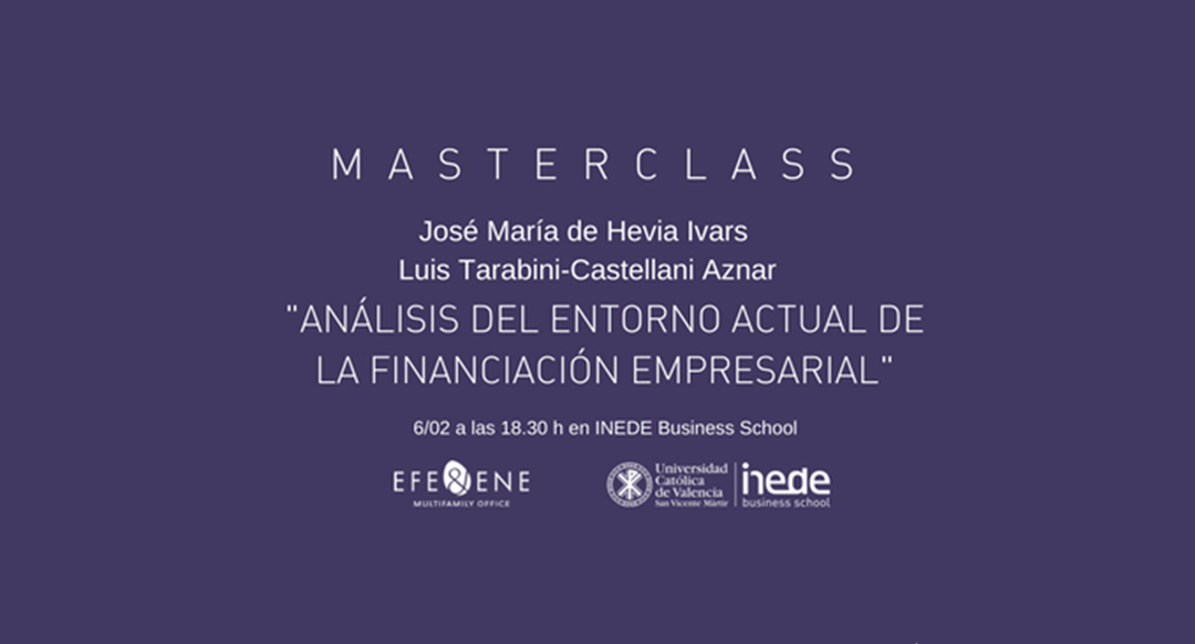 Le invitamos a la masterclass sobre Corporate Finance