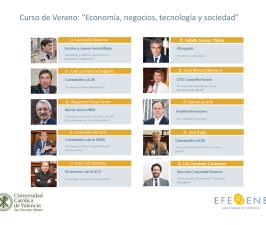 """Curso de Verano: """"Economía, negocios, tecnología y sociedad"""""""